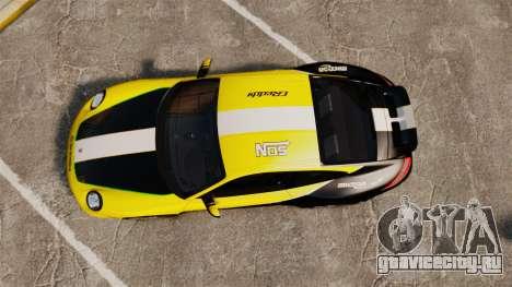 Porsche 911 Sport Classic 2010 RACE для GTA 4 вид справа