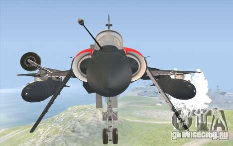 Dassault Mirage 2000-C для GTA San Andreas вид справа