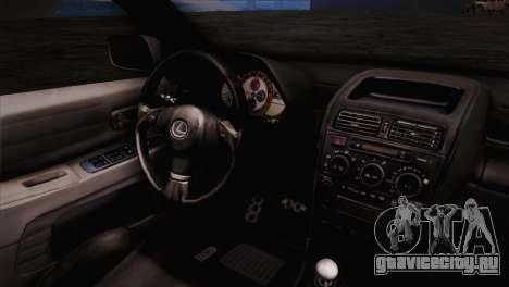 Toyota Altezza Sakura Miku Itasha для GTA San Andreas вид справа