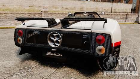 Pagani Zonda C12 S Roadster 2001 PJ4 для GTA 4 вид сзади слева