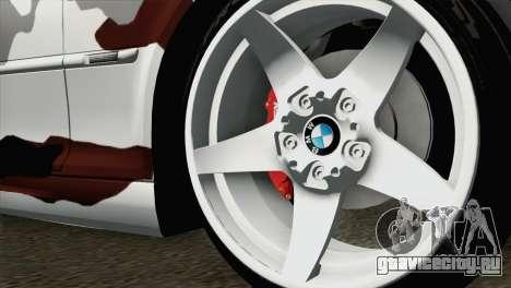 BMW M3 E46 Camo для GTA San Andreas вид сзади слева