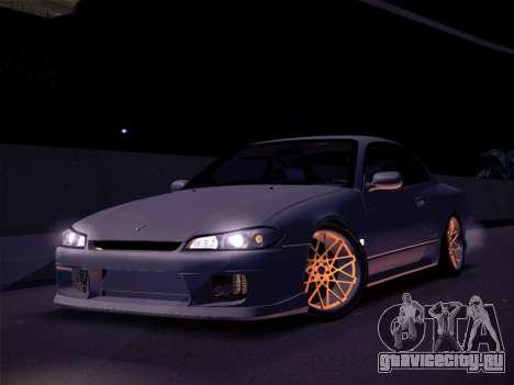 Nissan Silvia S15 Stanced для GTA San Andreas вид сзади слева