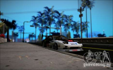 Nissan 240SX Monster Energy для GTA San Andreas вид сзади