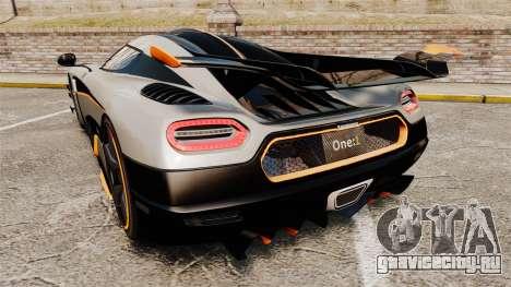 Koenigsegg One:1 [EPM] для GTA 4 вид сзади слева