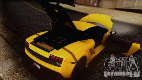 Lamborghini Gallardo LP570-4 Edizione Tecnica для GTA San Andreas двигатель