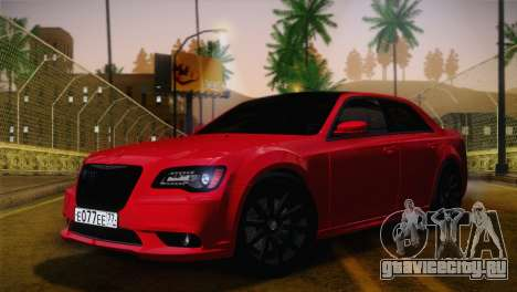 Chrysler 300 SRT8 Black Vapor Edition для GTA San Andreas вид изнутри