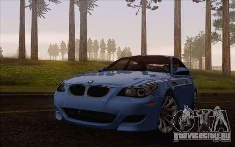 BMW M5 E60 2009 для GTA San Andreas вид сзади