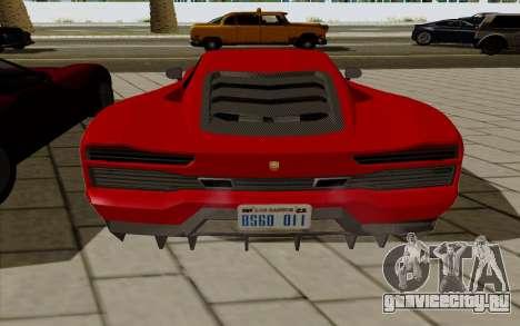 GTA 5 Pegassi Vacca для GTA San Andreas вид справа