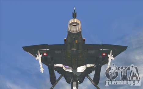 Dassault Mirage 2000-C для GTA San Andreas вид сзади слева