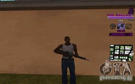 C-HUD The Ballas Gang для GTA San Andreas