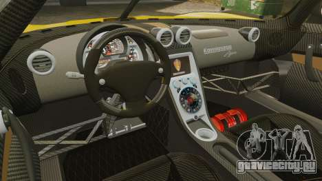 Koenigsegg Agera TE [EPM] для GTA 4 вид изнутри
