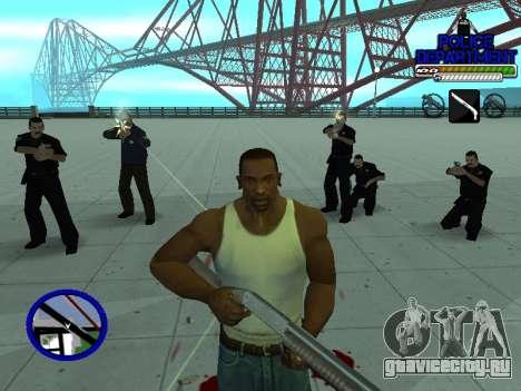 С-Hud Police Department для GTA San Andreas шестой скриншот