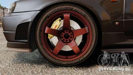 Nissan Skyline GT-R NISMO S-tune Amuse Carbon R для GTA 4 вид сзади