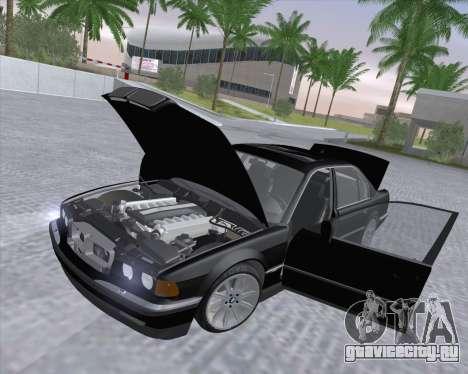BMW 7-series E38 для GTA San Andreas вид изнутри