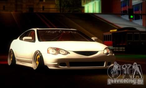 Acura RSX Stance для GTA San Andreas вид сзади слева