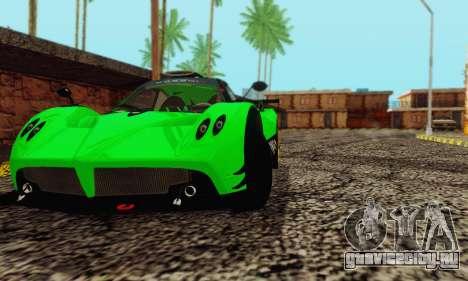 Pagani Zonda Type R Green для GTA San Andreas вид справа