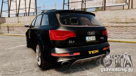 Audi Q7 TEK [ELS] для GTA 4 вид сзади слева