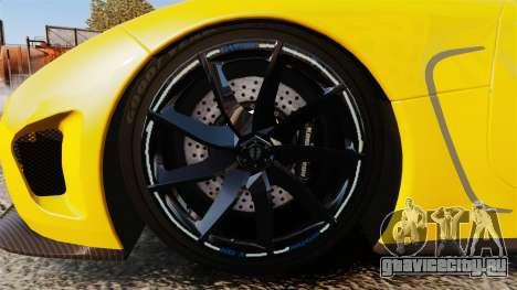 Koenigsegg Agera TE [EPM] для GTA 4 вид сзади