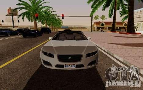 GTA 5 Lampadati Felon GT V1.0 для GTA San Andreas вид справа