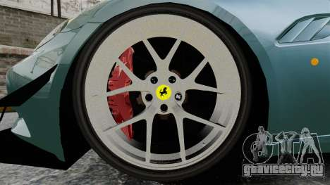 Ferrari California для GTA 4 вид сзади