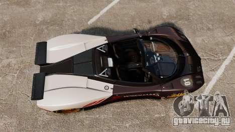 Pagani Zonda C12 S Roadster 2001 PJ4 для GTA 4 вид справа