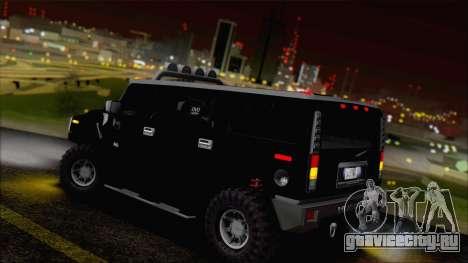 Hummer H2 Tunable для GTA San Andreas вид снизу