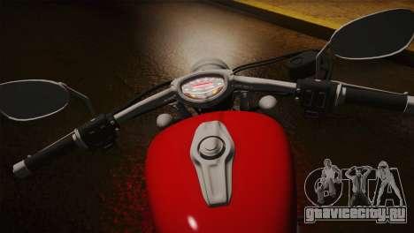 Yamaha Star Stryker 2012 для GTA San Andreas вид сзади