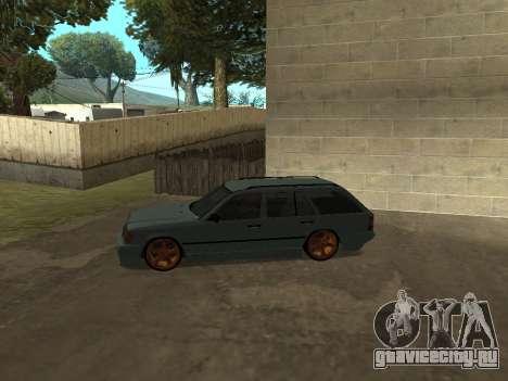 Mercedes-Benz W124 Wagon для GTA San Andreas вид сзади слева