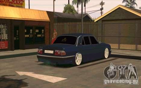 ГАЗ 31105 для GTA San Andreas вид сбоку