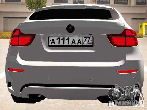 BMW X6 Hamann для GTA San Andreas вид изнутри