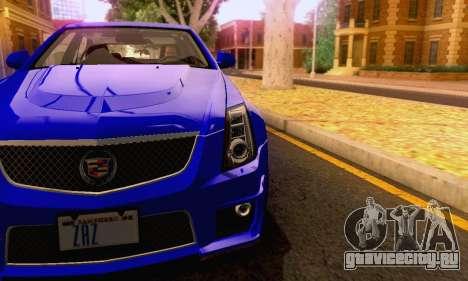 Cadillac CTS-V Sedan 2009-2014 для GTA San Andreas салон