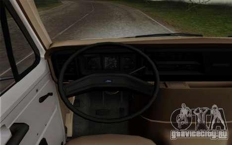 Ford E-350 1982 для GTA San Andreas вид сзади слева