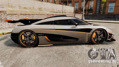 Koenigsegg One:1 [EPM] для GTA 4 вид слева