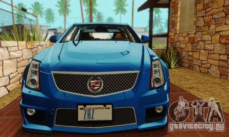 Cadillac CTS-V Sedan 2009-2014 для GTA San Andreas вид сверху