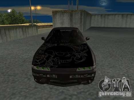 Nissan s13 фондовой fusion для GTA San Andreas вид сзади слева