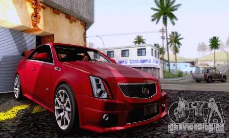 Cadillac CTS-V Sedan 2009-2014 для GTA San Andreas вид сбоку
