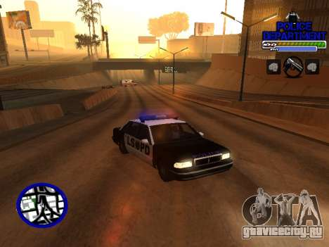 С-Hud Police Department для GTA San Andreas второй скриншот