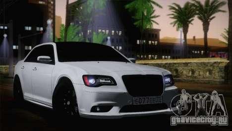 Chrysler 300 SRT8 Black Vapor Edition для GTA San Andreas вид сзади слева