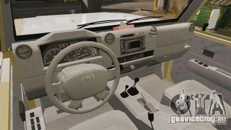 Toyota Land Cruiser 70 2014 для GTA 4 вид сзади
