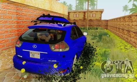 Lexus RX400h 2010 для GTA San Andreas вид сзади