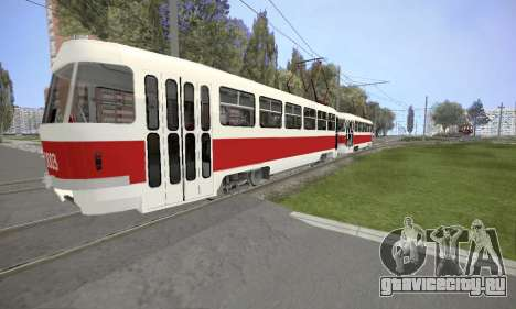 Tatra T3SU для GTA San Andreas вид сзади слева