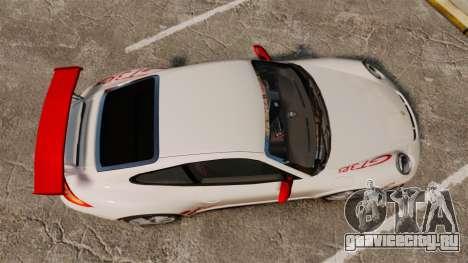 Porsche 997 Carrera GT3 RS для GTA 4 вид справа