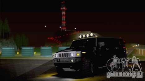 Hummer H2 Tunable для GTA San Andreas вид сверху