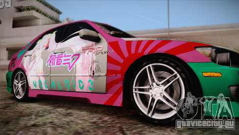 Toyota Altezza Sakura Miku Itasha для GTA San Andreas вид сзади слева