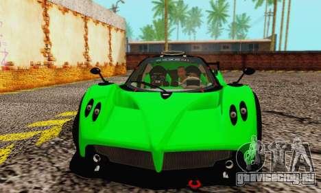 Pagani Zonda Type R Green для GTA San Andreas вид слева