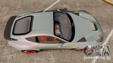 Ferrari F12 Berlinetta Novitec Rosso N-Largo для GTA 4 вид справа