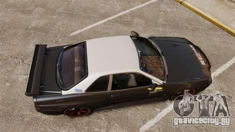 Nissan Skyline GT-R NISMO S-tune Amuse Carbon R для GTA 4 вид справа
