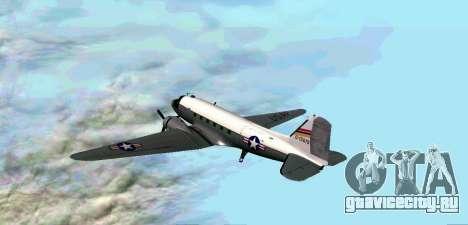 C-47 Дакота USAF для GTA San Andreas вид справа
