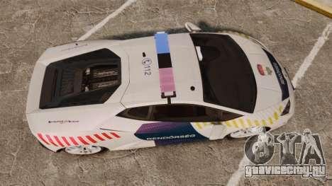 Lamborghini Huracan Hungarian Police [ELS] для GTA 4 вид справа