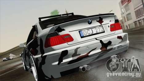 BMW M3 E46 Camo для GTA San Andreas вид слева